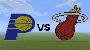 Minecraft Pacers Vs Heat Logos Eastern Conference
