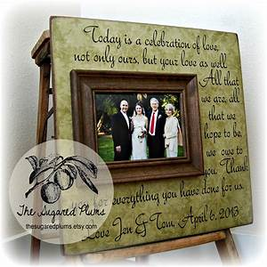 Parents thank you wedding frame today is a by thesugaredplums for Parent gifts for wedding