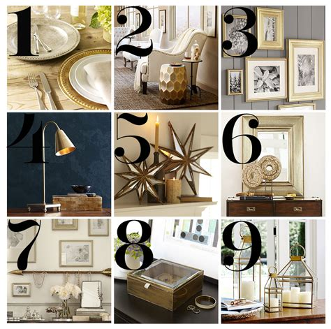 pottery barn lily task l trend metallic accents gold silver brass