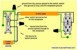 Ceiling Light To Receptacle Electrical Wiring Diagrams