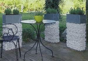 Terrasse Avec Muret : jardini re muret gabion avec galets ~ Premium-room.com Idées de Décoration