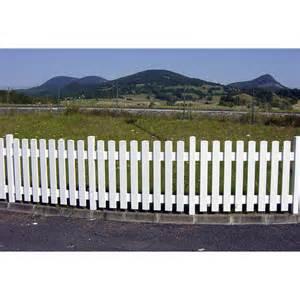Devis Cloture Jardin Leroy Merlin by Cl 244 Ture Barreaud 233 E Pvc Treboul Blanc H 70 X L 150 Cm