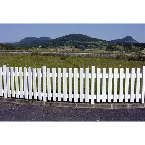 bandeau inox pour cuisine clôture barreaudée pvc treboul blanc h 70 x l 150 cm