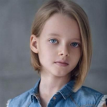 Russian Child Evelina Voznesenskaya Morphing Face Russia