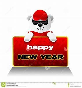 Happy New Year, Teddy Bear, Holidays Stock Illustration ...