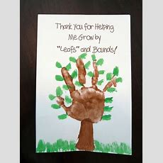 Great Teacher Card  We Can Do This One! Or I Grew Leaps And Bounds This Year  Summer Crafts