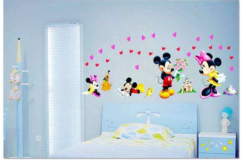 Large Mickey Mouse Love Minnie Wall Stickers