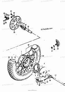 Suzuki Motorcycle 1977 Oem Parts Diagram For Rear Wheel