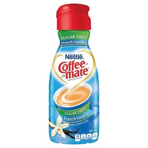 42% fewer calories than regular international delight. Coffee-Mate Sugar Free French Vanilla Creamer - 32oz : Target