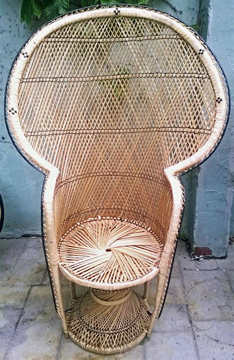 wicker peacock chair for sale antiques classifieds