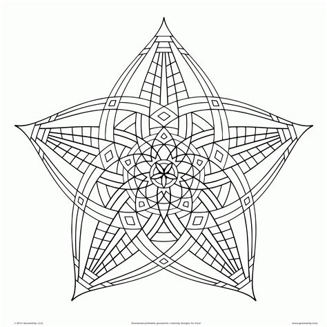 Geometric Design Coloring Pages Geometric Coloring Pages For Adults Coloring Home