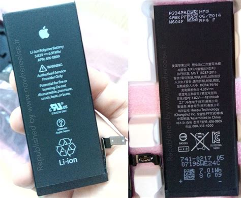 iphone 6 battery size images appear to confirm iphone 6 battery size