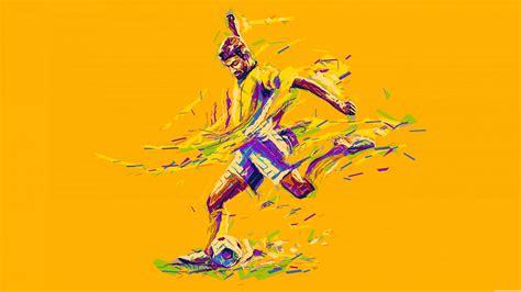 Football Player Kicking Soccer Ball Uhd 8k Wallpaper Pixelz