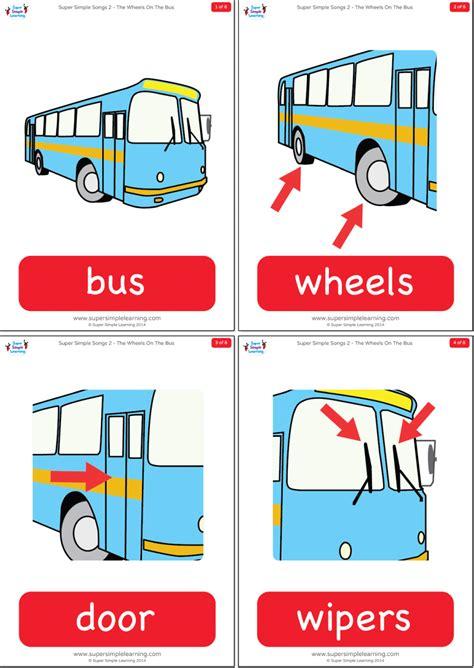wheels   bus flashcards super simple