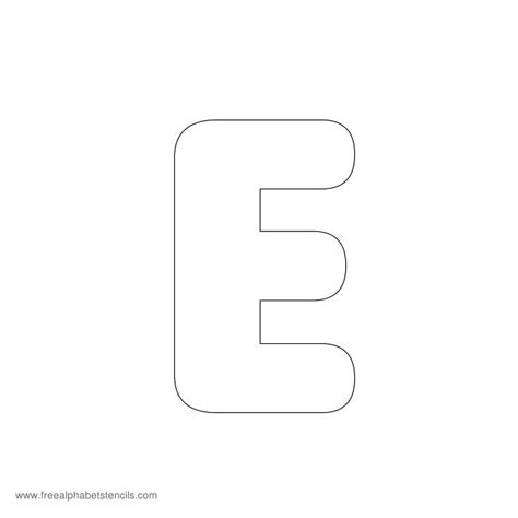 preschool alphabet stencils freealphabetstencils 427 | preschool stencil e