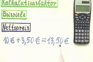 Angebotsüberhang Berechnen : video kalkulationsfaktor berechnen so gelingt 39 s ~ Themetempest.com Abrechnung