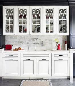 Distinctive kitchen cabinets with glass front doors for Glass doors for kitchen cabinets