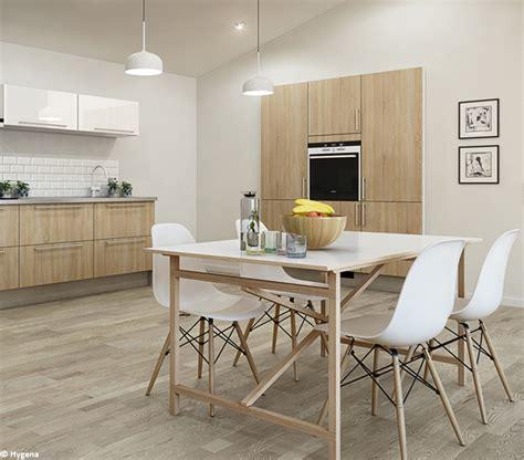 cuisine bois clair chaise de cuisine scandinave