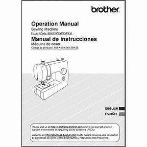 Instruction Manual  Brother Jx2517   Sewing Parts Online
