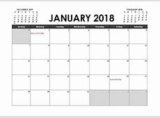Free Printable 2018 Calendar Templates with Australia Holidays