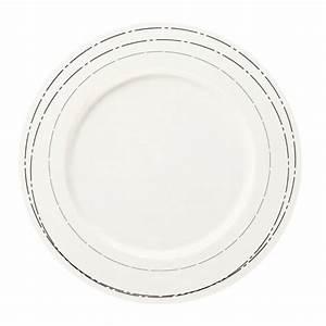 Assiette Plate Originale : assiette plate ronde a table liser argent 28 cm achat vente service complet cdiscount ~ Teatrodelosmanantiales.com Idées de Décoration