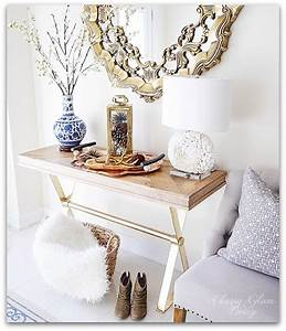 Fall decor around the house classy glam living for Homesense coffee table