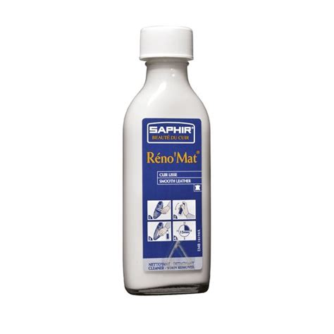 renomat cleaner 100ml saphir shoe care leather friends