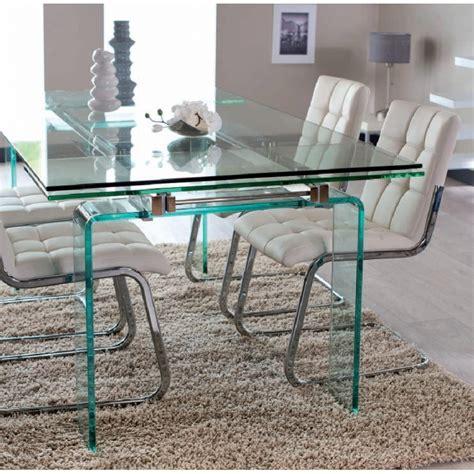 table en verre but table verre rectangulaire avec allonges bonne qualit 233 verre tr 232 s 233 pais