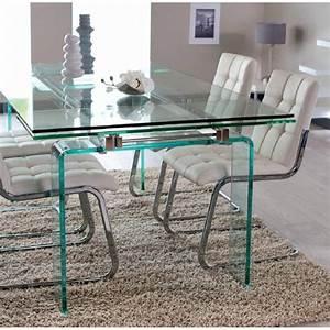 support table en verre table basse en verre pieds en bois With meuble salle À manger avec table en verre avec rallonge