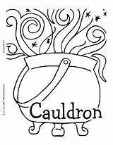 Cauldron Printable Coloring English Lrn Luv Comment Tag Please Pagan Colouring sketch template