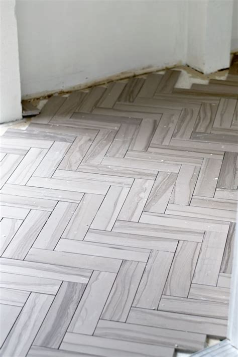 herringbone floor tile sarah m dorsey designs two weekends herringbone tile