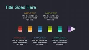 Pencil Timeline Diagram Presentation Slidemodel