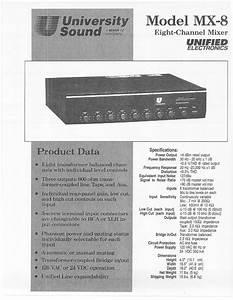 University Sound Mx-8 Manuals