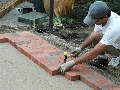 diy brick paver patio corner
