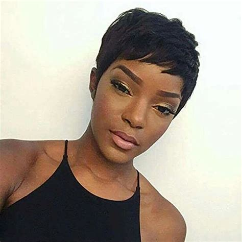 inches pixie cut wig layered extra short straight wigs
