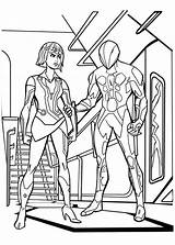 Coloring Pages Tron Legacy Quorra Elevator Caught Template sketch template