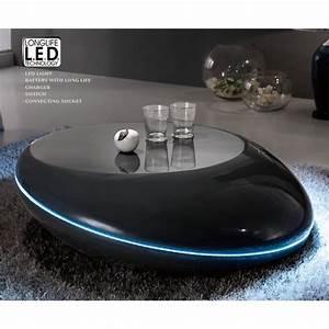 Table Basse Galet Led : table basse design galet lumineuse led ateliercorduant ~ Melissatoandfro.com Idées de Décoration