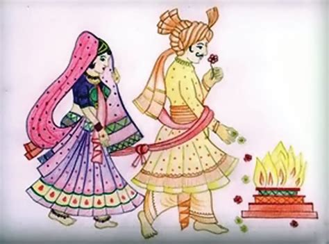 Indian Wedding Couple Clipart