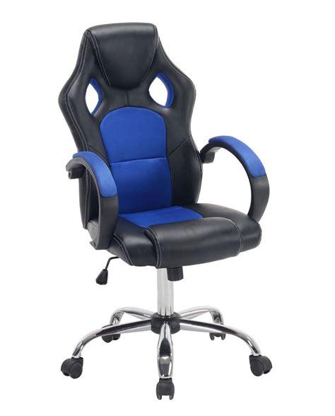 chaise de chaise de bureau racing gaming piétement chrome
