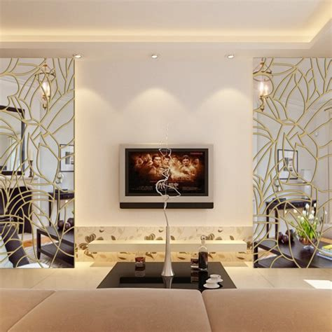 diy mirror wall stickerremovable home decorroof