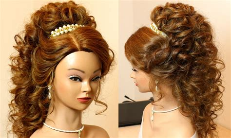 15 inspirations of curly medium length hair wedding hairstyles
