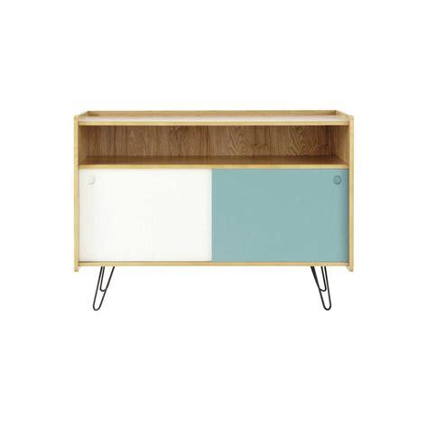 porta tv vintage bianco  blu  legno   cm twist
