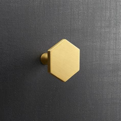 Hexagon Brass Drawer Pull