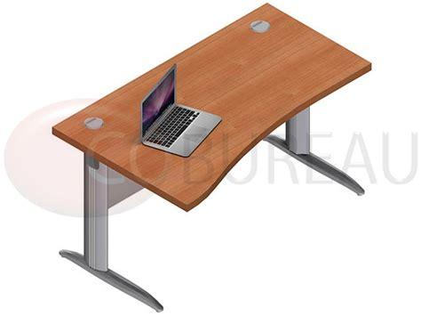 bureau en l bureau vague pro métal 140 cm pieds en l