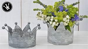 Basteln Mit Blechdosen : diy krone aus blechdosen im shabby oder vintage stil zink look upcycling youtube ~ Orissabook.com Haus und Dekorationen