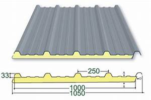 Plaque Ondulée Pour Toiture : t les profil 33 250 1000 isol e plaque ~ Premium-room.com Idées de Décoration