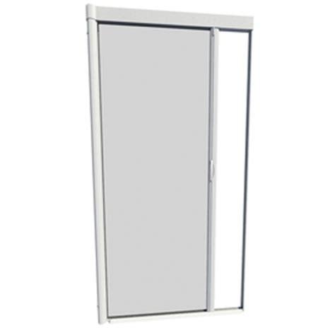 larson retractable screen door shop larson 48 in x 91 in white retractable screen door at
