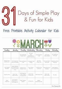 Blank Printable Calendars March Printable Activity Calendar For Kids Kids Calendar