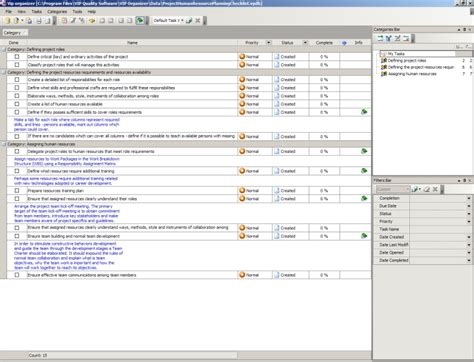 project human resource planning checklist to do list