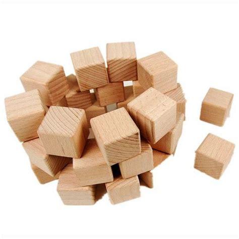 pcslothigh quality cm wood cubebuilding blocksearly